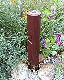 Säulenbrunnen 60 cm Cortenstahl Roststahl Säule Wasserspiel