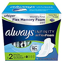 Always Infinity Heavy Flow Pads with Wings 16 Count