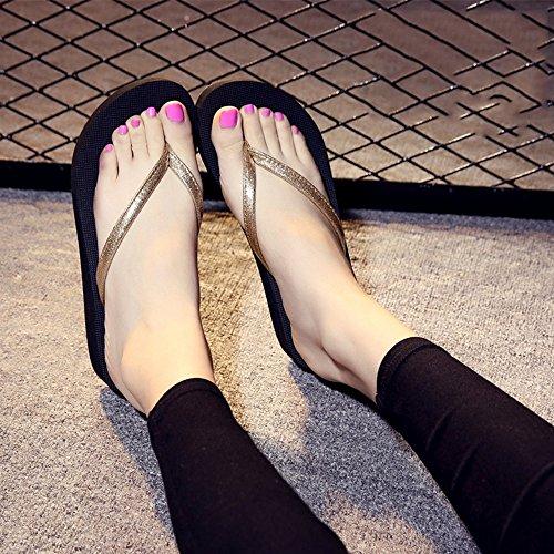 Estate Sandali Pantofole antisdrucciolo estivo femminile per Ooutdoor (rosa, nero, blu, oro, argento) Colore / formato facoltativo Oro