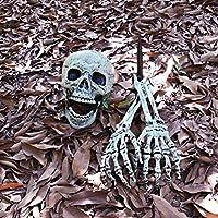 NAKELUCY Halloween Fun - Human Skeleton Anatomical Model - skeleton skull arm horror buried in the home garden yard lawn decoration admired presents