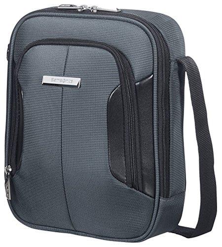 """Samsonite XBR Tablet Tracolla 9.7"""" Borsa Messenger, Poliestere, Grigio/Nero, 4.5 ml, 27 cm"""