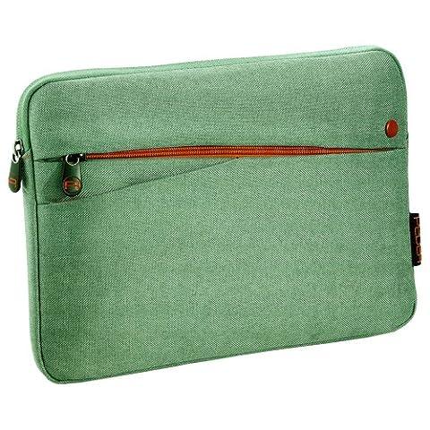 Pedea Tablet Tasche 25,6 cm (10,1 Zoll) mit Zubehörfach grün