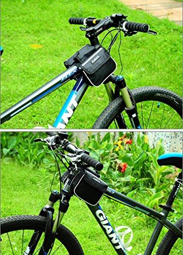 Outdoor peak Mountainbike bag Fahrrad tasche Sattel Tasche mit Handy pocket Schwarz