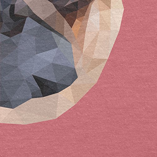 Texlab–Poly Pug Face–sacchetto di stoffa Pink