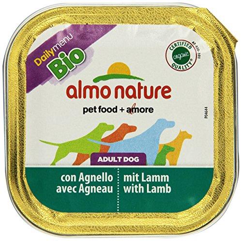 Almo Nature Daily Menu Bio Hundefutter, Lamm, 32 Schalen (32 x 100 g)
