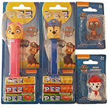 Pack Dispensador Pez Patrulla Canina (Chase, Skye) mas 2 mini figuras patrulla canina