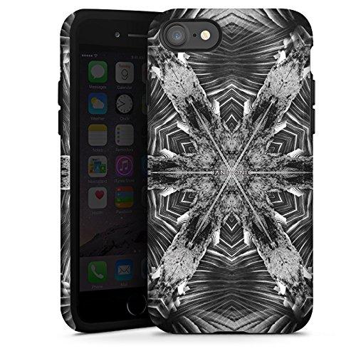 Apple iPhone X Silikon Hülle Case Schutzhülle Abstrakt Batik Tie Dye Tough Case glänzend