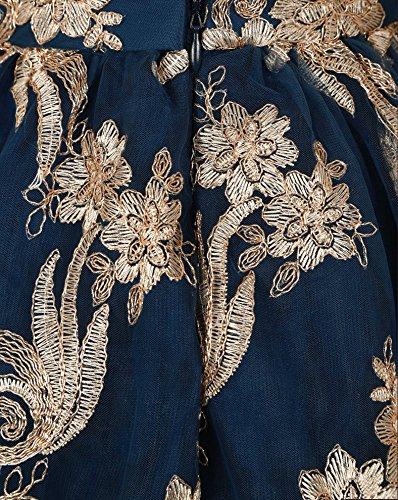 Chi Chi Effie Kleid navy-gold Blau