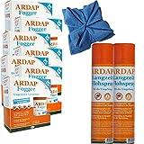 ARDAP Set 2 x 400 ml Flohspray + 10 x 100 ml Fogger gegen Flöhe + Microfasertuch