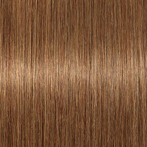Chignon capelli veri clip extension elastico effetto naturale voluminoso capelli lisci con 2 clips magic hair bun coda updo crocchia 32g #6 castano
