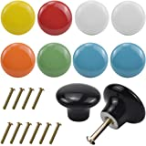 Jinlaili 10 STKS Kleurrijke Kabinet Deurknoppen, 32 mm Ronde Keramische Lade Pull Handvat, Leuke Keuken Kast Kast Lade Deurkn