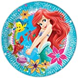 23cm Disney Princess Ariel Little Mermaid Party Plates, Pack of 8