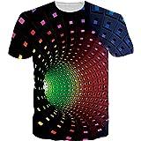 UNIFACO Unisex 3D imprimé T-Shirts Manche Courte d'été pour Homme Femme
