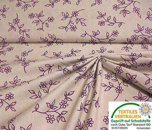 Stoffe: bedruckter Baumwollstoff, geeignet für Mode im Landhausstiel undOktoberfest-geeignet: Trachtenmode/Dirndl (Schadstoff geprüft nach Oeko-Tex Standard 100) (VE:0,8m Reststück)