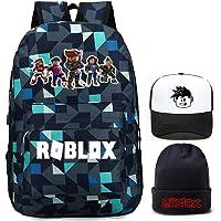 Kids Roblox Backpack, Student Bookbag Shcool Bag Laptop Daypack Travel Rucksack Computer Bag for Boys Girls Teens Game…