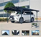 Carport Tettoia per auto in Policarbonato e Alluminio - 505x300 cm da esterno o da giardino