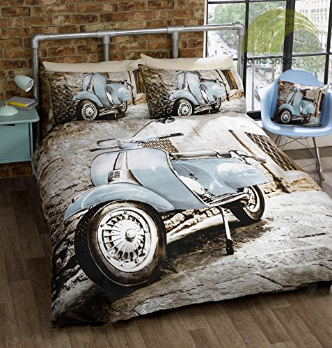 Photographic Scooter Blue Double Quilt Duvet Cover