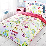 Owl and Friends Single Duvet Cover and Pillowcase Set by OWLS