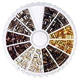 6 colores por caja, el color de bronce antiguo & el rojo de cobre & el color oro & el color de plata & el color de platino & negro, abalorios de tubo de riza de laton, columna, sin cadmio y sin plomo y sin niquel, 3x3 mm, agujero: 2~2.5 mm; 420 sobre piezas / caja