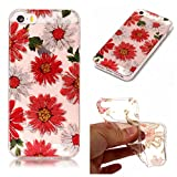 iphone se/5/5s Case, iphone se/5/5s Silicone TPU Transparent Cover, Cozy Hut iphone se/5/5s Luxury Shining Bling Printing Drawing Design Scratch Resistant TPU Bumper Clear Flexible Silicone Back Soft Protective Case Cover for iphone se/5/5s - daisy