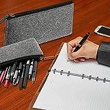 ProCase Filz Mäppchen, Multifunktions-Briefpapier-Beutel-Reißverschluss-Beutel für Stifte, Bleistifte, Gel-Kugelschreiber, Markierungen und andere Schulbedarf -2 Pack, Schwarz für ProCase Filz Mäppchen, Multifunktions-Briefpapier-Beutel-Reißverschluss-Beutel für Stifte, Bleistifte, Gel-Kugelschreiber, Markierungen und andere Schulbedarf -2 Pack, Schwarz