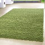 *Teppich* für Wohnzimmer günstig hochflor Shaggy Teppich mit verschiedenen Farben und Größen* Teppiche werden mit 100% PP Headset hergestellt. Gesamthöhe des Teppichs circa 30 mm. , Größe:60x110 cm, Farbe:Grün
