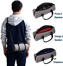 Tragbar Hand Tragen Schutzhülle Tasche Box Tasche Halter Rucksack Schultertasche für JBL Pulse 2 JBL Charge 3 Logitech UE megaboom Bluetooth-Lautsprecher Make-up Geldbörse Phone Bag