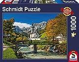 Schmidt Spiele 58225 - Reiteralpe, Ramsau, 1.000 Teile, Klassische Puzzle