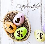 Osterdeko für Ostereier Aufkleber Füchse Hasen Katze Schmetterlinge Kinder Frühling Kinderzimmer M1415