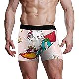 XiangHeFu Slip da Uomo Boxer Happy Happy Unicorn Rocket Stretch Mutande Traspiranti
