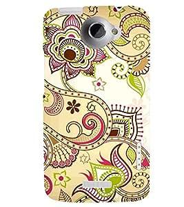 PRINTSWAG FLOWER ART Designer Back Cover Case for HTC ONE X