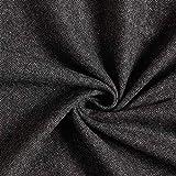 Fabulous Fabrics Mantelstoff Pfeffer & Salz – anthrazit