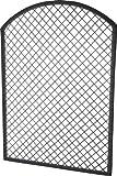 GARTENFREUDE Rankgitter Spalier Polyrattan für Blumenkübel, 101.5 x 2.5 x 140 cm, anthrazit
