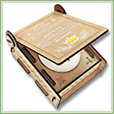 CANDLE IN THE BOX Patentante fragen | Geschenk-Box mit Botschaft & Kerze | Personalisiert mit Foto & Namen | Beste Freundin zur Patentante befördert