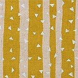 Senfgelbes Wachstuch mit Streifen von echino
