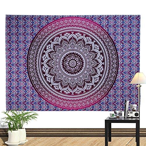 BBQBQ Drucken Home Tapisserie wandbehang wanddekoration Strandtuch Totem Decke lila 150 * 130 cm
