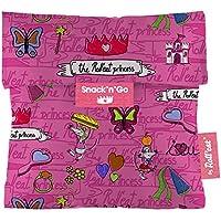 Roll'eat Snack'n'Go-KIDS Princesas rosa- Porta Snacks reutilizable - porta meriendas - bolsa merienda- BPA Free