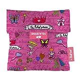 Roll'eat Snack'n'Go-KIDS Princesas turquesa - Porta Snacks reutilizable - porta meriendas - bolsa...