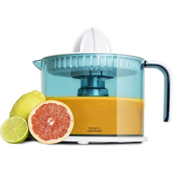 Electric Juicer for Oranges and Citrus 40 W. Drum 1 Liter BPA Free. Double Swivel Sense, Double Cone and Dust Cover. zitruseasy cecotec Basic.