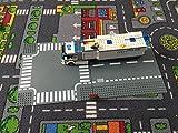 Katara 1776 - Straßen Platte 25,5cm x 25,5cm Kompatibel Lego, Q-Bricks, Papimax, Sluban, Beton-Grau