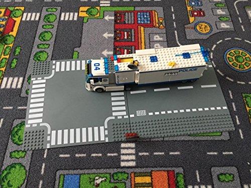 Placa Base de Carretera para Coches - Plancha de Construcción Gris con...