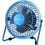 Orbegozo PW 1020 - Mini ventilador industrial de sobremesa, 10 cm, color azul