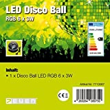 7even LED Disco Starball - RGB 6 x 3 W / Spiegelkugel LED Lichteffekt / Fading Colors