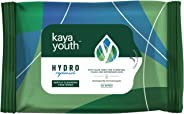 Kaya Youth Hydro Replenish Gentle Cleansing Wet Face Wipes with Aloe Vera, Remove Dirt, Oil, Pollutants, 24 hours Hydrated Sk