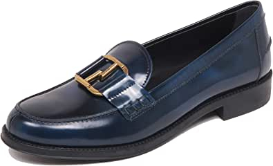 F6890 Mocassino Donna Blu Navy Tod'S Light/Shade Effect Loafer Shoe Woman