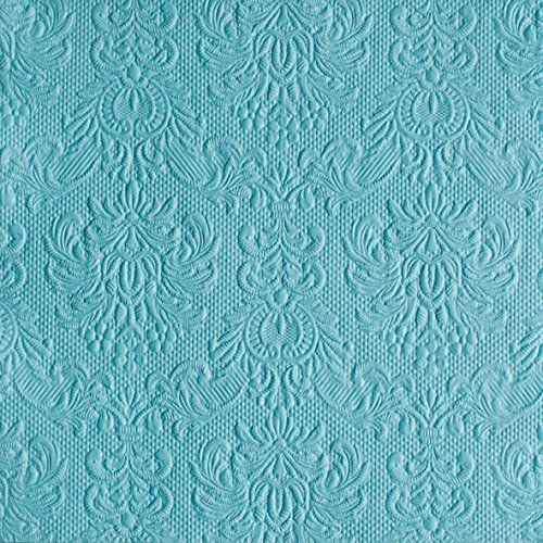 Ambiente - Servietten - Elegance - geprägt - light petrol / türkis / blau (Elegance 3 Stück)