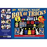 Marvin's Magic Box Of 125 Tricks Set - Childrens Magic Set.Magic Kit Complete with Magic Wand,  Card Tricks and Much More, Magic Made Easy for children Aged 6 and above - Professional Magic made easy