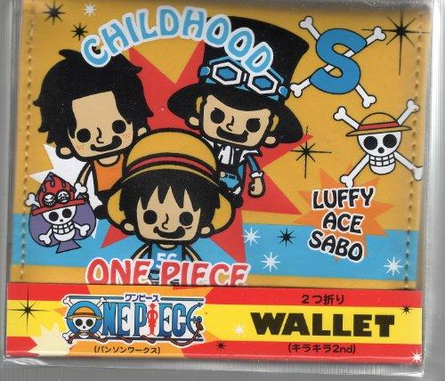 One Piece 2 Wandbrieftasche (Glitter 2.) Kindheit Luffy Ace Sabo (Japan Import / Das Paket und das Handbuch werden in Japanisch)