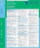 PONS Typische Fehler auf einen Blick Latein: kompakte Übersicht, effizient Fehler vermeiden