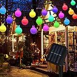 Vegena Guirlande Lumineuse Solaire 50 Petites Boule LED, 7M Fil Souple Étanche IP65 avec 8 Modes Eclairage Décoration Intérieur et Extérieur, pour Maison, Jardin, Festival, Arbre de Noël etc